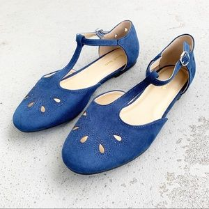 Modcloth The Zest is History Navy T-Strap Flat 9